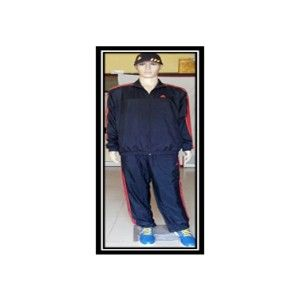 Adidas Track Suit Black With Orange Strips A42109