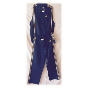 Adidas Track Suit Navy Blue With Yellow Stripes 36944