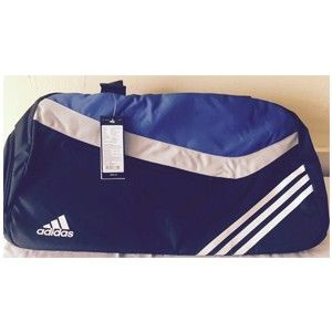 Adidas Black And Blue Polyester Duffle Bag A42115