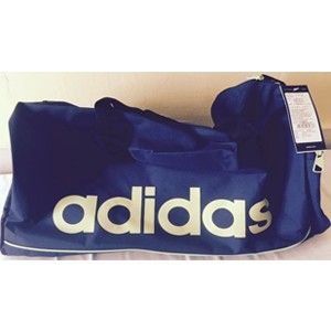 Adidas Grey Polyester Duffle Bag Aa4438
