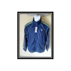 Adidas Track Top Blue With Green Strips Ah9111