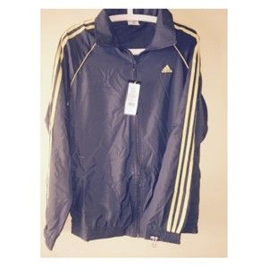 Adidas Track Top Gray  With Yellow Stripes 42111