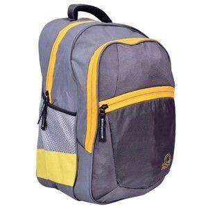 Benetton Grey & Yellow Backpack