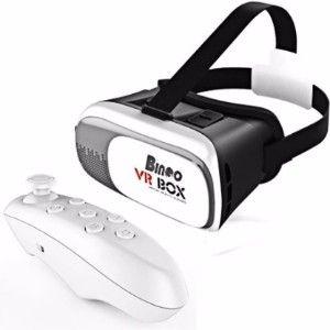 Bingo V200 Virtual Reality 3D Vr Box With Bluetooth Remote Controller  (Smart Glasses)