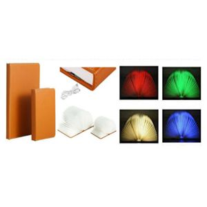 Cute Design Night Light Usb Rechargeable Book Shape Folding  Led Book Lamp