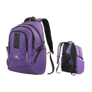 High Sierra Incline Laptop Backpack Deep Purpl/Blk