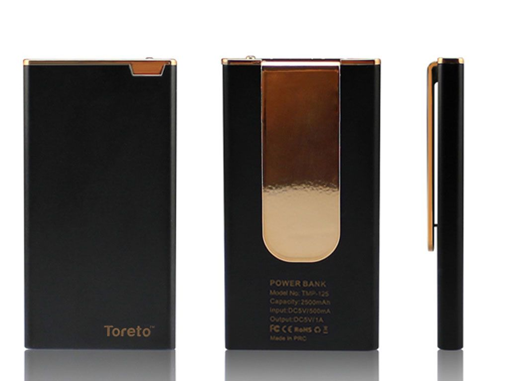 Toreto Pluto Power Bank 2500Mah Black
