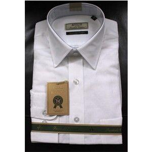 Linen Arrow Formal Shirt White