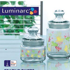 Luminarc Crazy Flower 3 Pc Jar Set