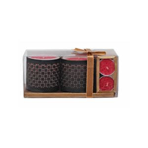 Gift Box ( 2 Jali Holder Candle & 6 T-Light Candles)