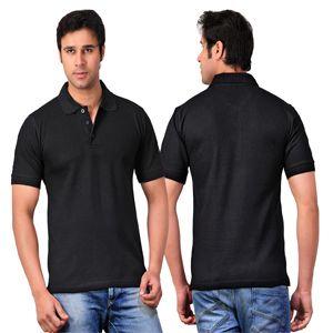 Scott Collared T-Shirt  Black