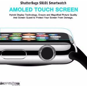 Shutterbugs Sb 101 Smartwatch  (Black Strap Free Size)