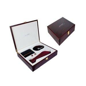 Alvaro Tie Cuffling Belt And Wallet Set Black  Alcg 15