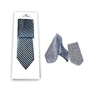 Alvaro Tie Hanky Set Navy Blue Alcg 19