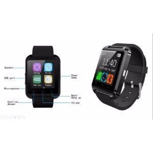 Zoon U8 Black Smartwatch  (Black Strap)