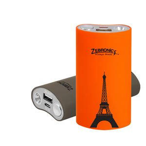 Zebronics 4400 Mah Power Bank Orange
