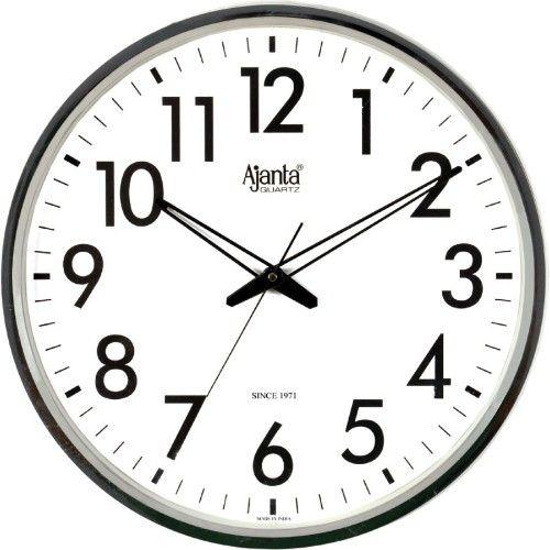 Ajanta AQ 1477 Round Black Wood Wall Clock