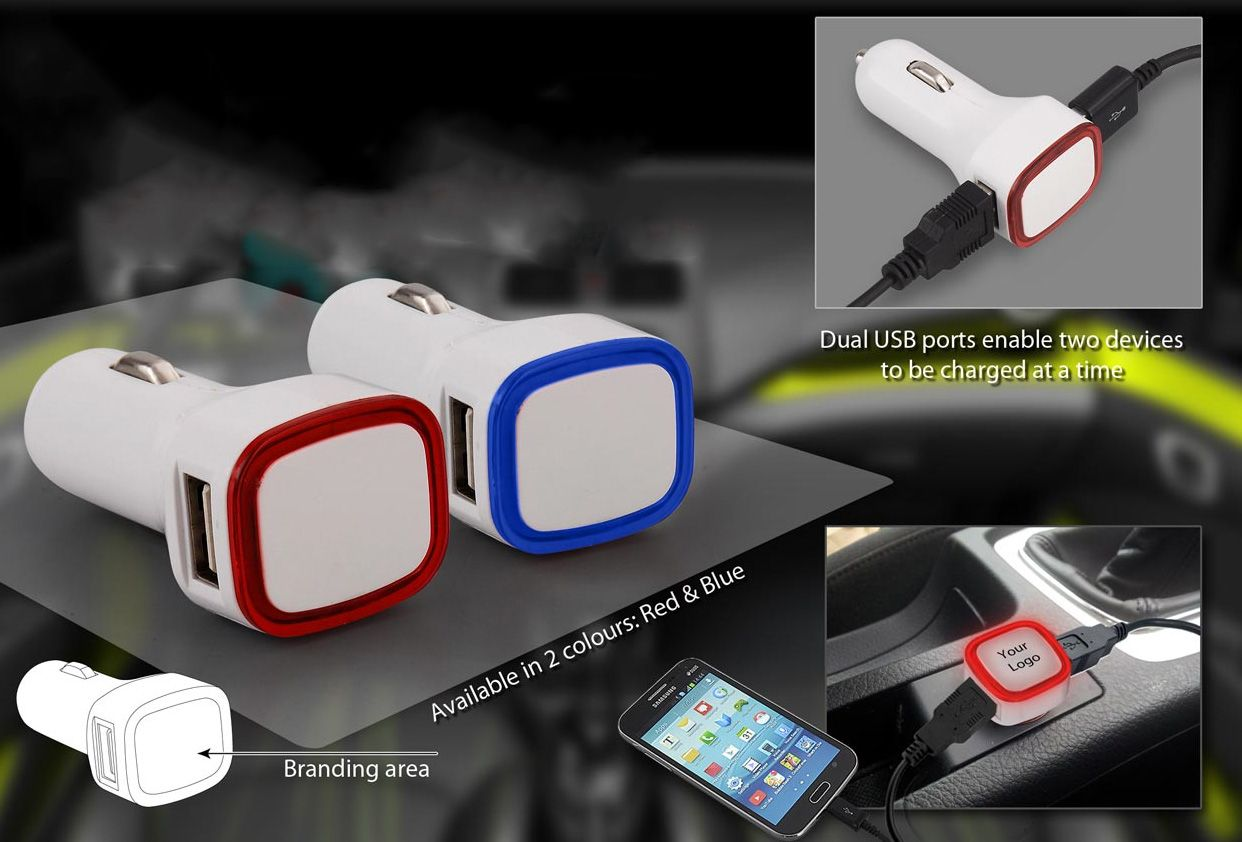 Power Plus Backlit Car Charger (Dual Usb Ports) (Without Cable) C09