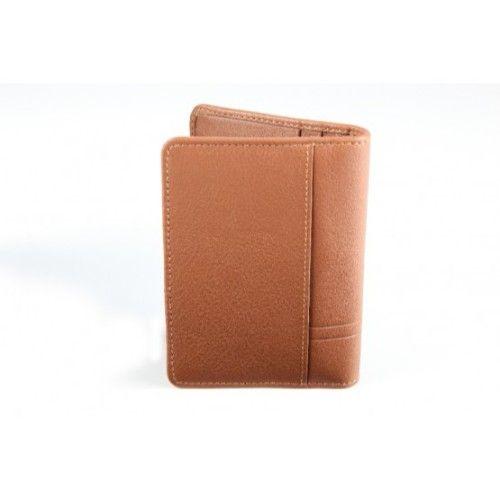 Elan Classic Lth Horizontal Card Holder-Tan
