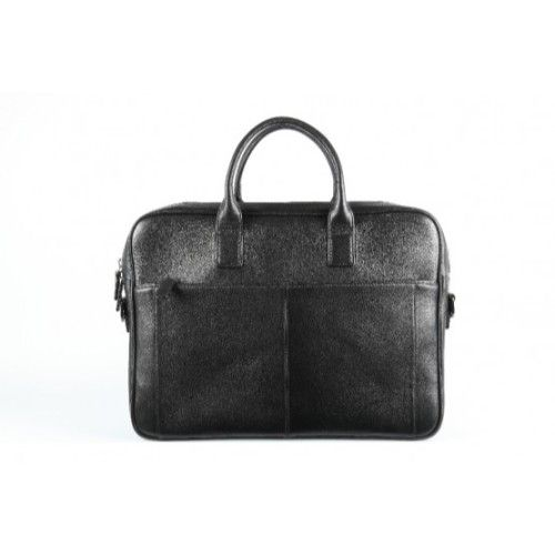 Elan Leather Business Bag-Black