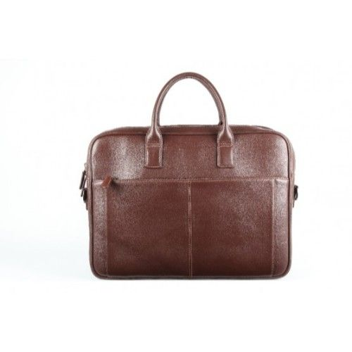 Elan Leather Business Bag-Brown