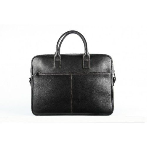 Elan Leather Executive Bag-Black