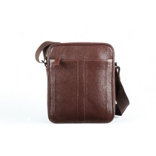 Elan Leather Shoulder Bag (Small)-Brown