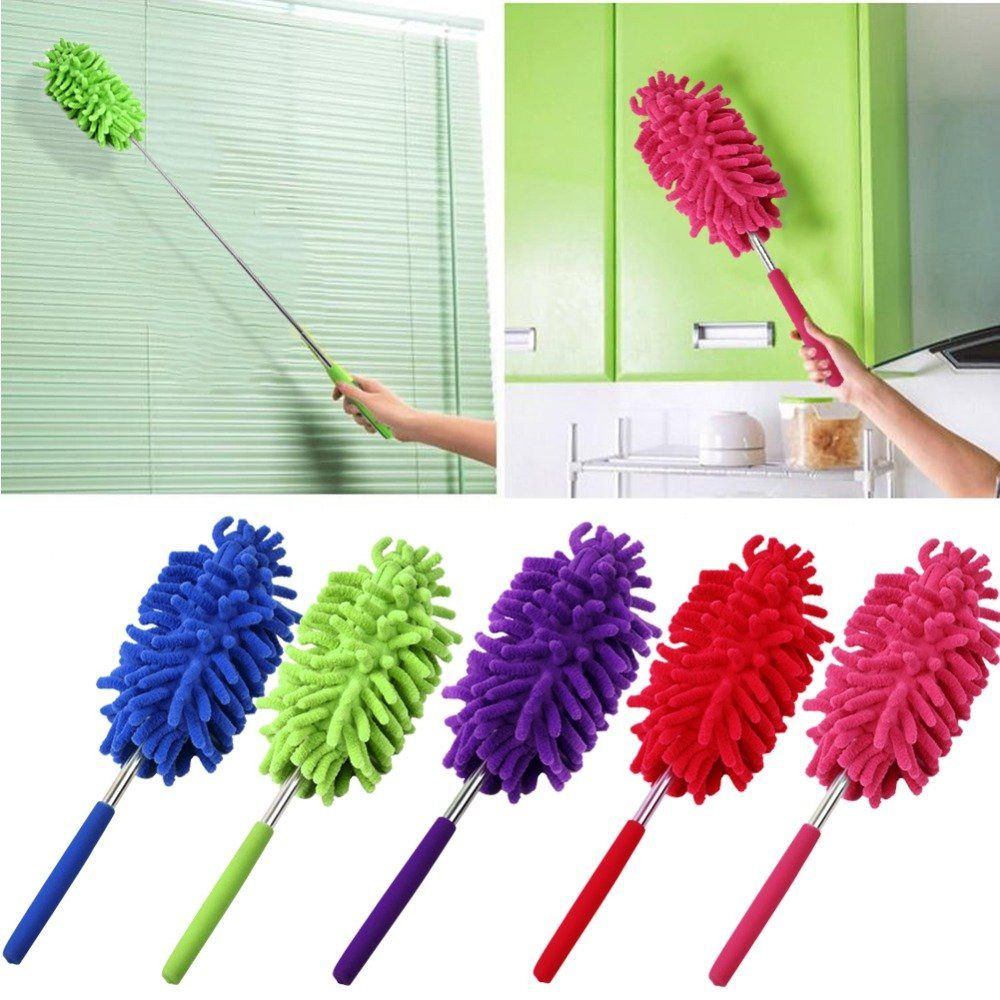 Power Plus Extendable Cleaner: Microfiber Duster With Bending Neck Z04