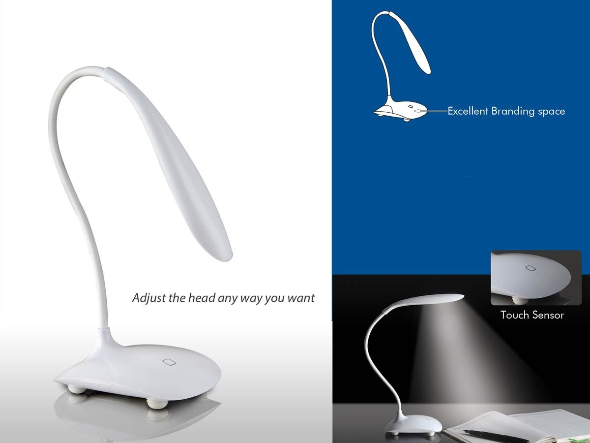 Power Plus Flexi Lamp: Swan Lamp With Broad Base E180 White