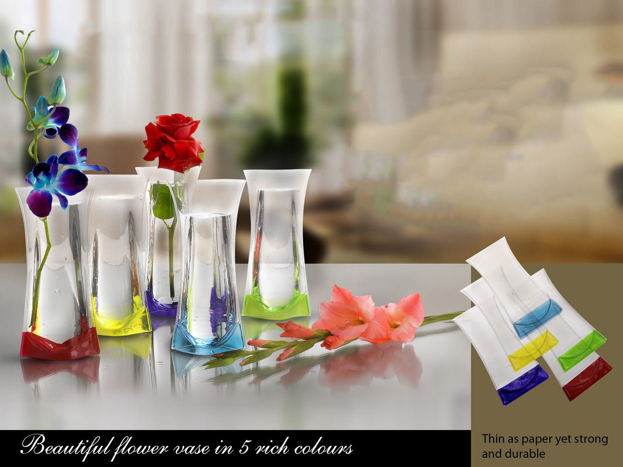 Folding Wonder Vase (Unbreakable, Leakproof, Easy To Carry) E54