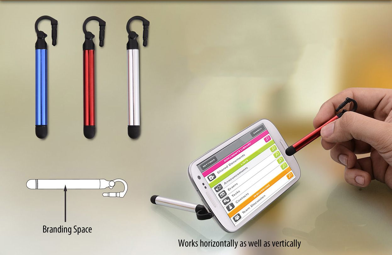 Power Plus Jack Stylus With Mobile Stand E113