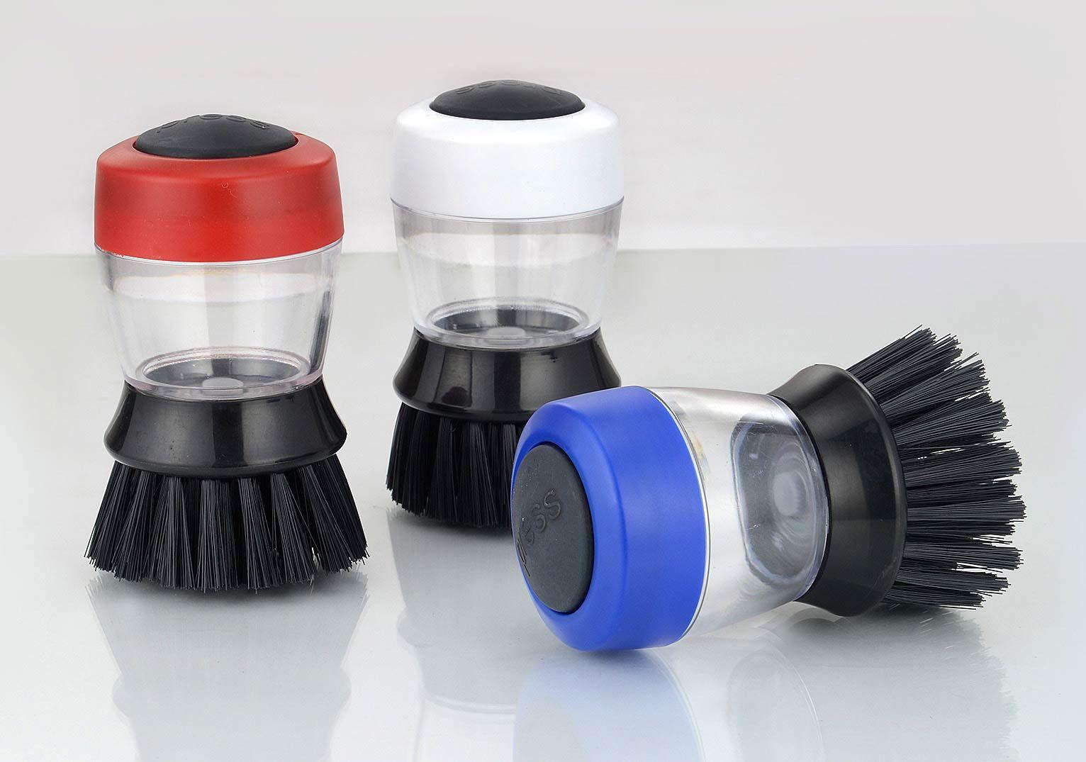 Power Plus Kitchen Brush With Detergent Holder Z03