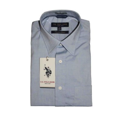 U.S. Polo Assn. Men Light Blue Premium Cotton Shirts -46cm