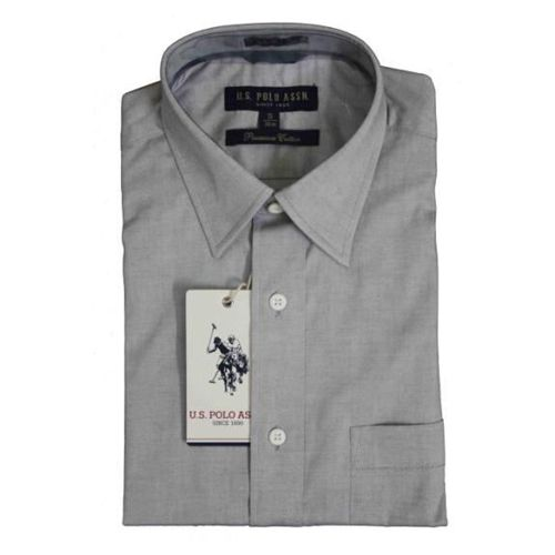 U.S. Polo Assn. Men Light Grey Premium Cotton Shirts -46cm