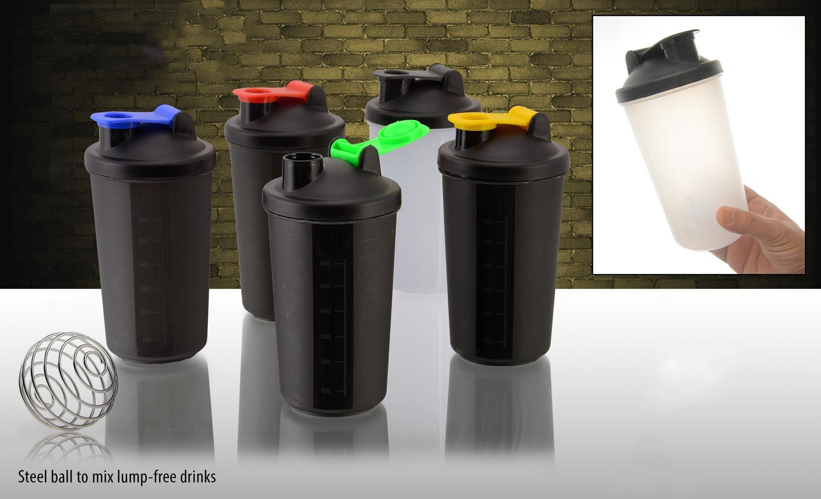 Power Plus Neon Shaker (With Steel Ball) H113
