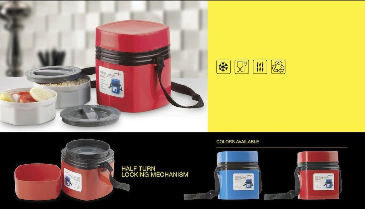 Power Plus Power Plus Mega Lunch Box (Microwaveable)- 2 Box H34