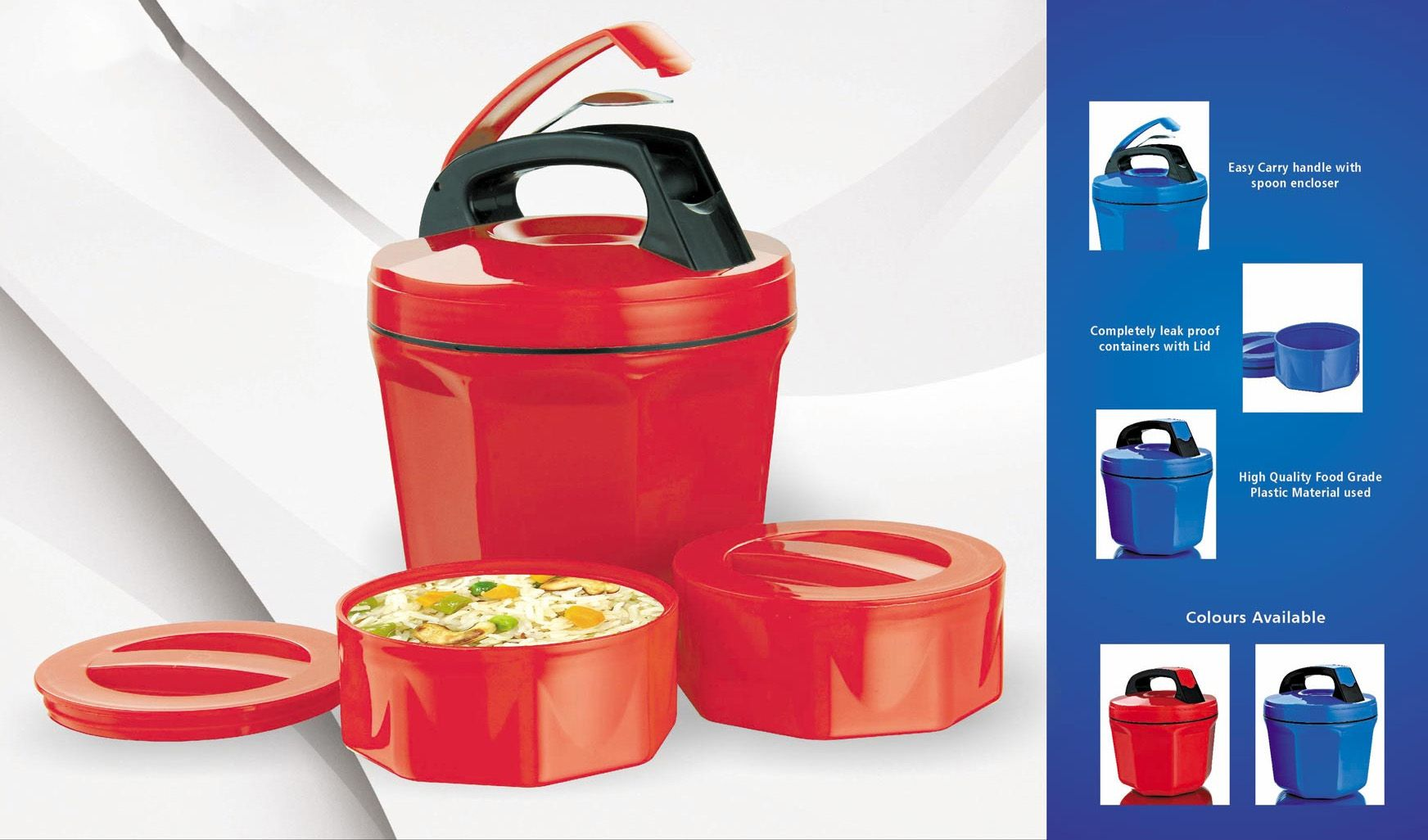 Power Plus Octomeal Lunch Box - 2 Containers (Plastic) H85