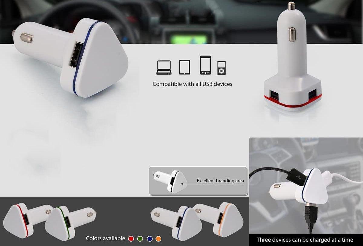 Power Plus Triple Usb Car Charger C25