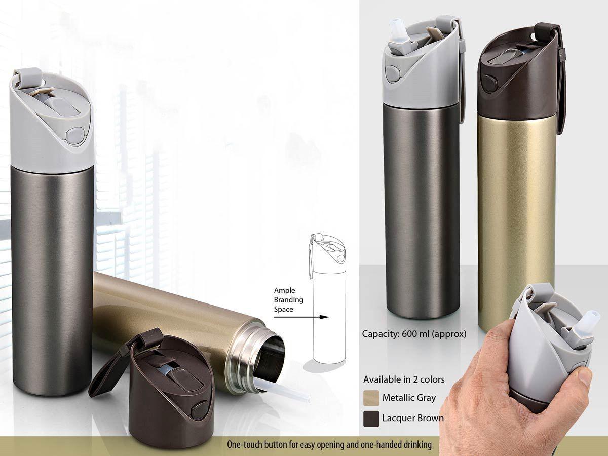 Power Plus Vacuum Flask With Flick Open Top (600 Ml) H100