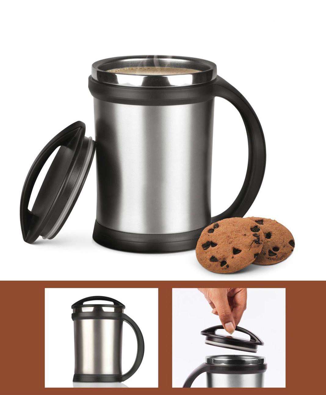 Power Plus Power Plus Vacuumized Travel Mug H36 Silver