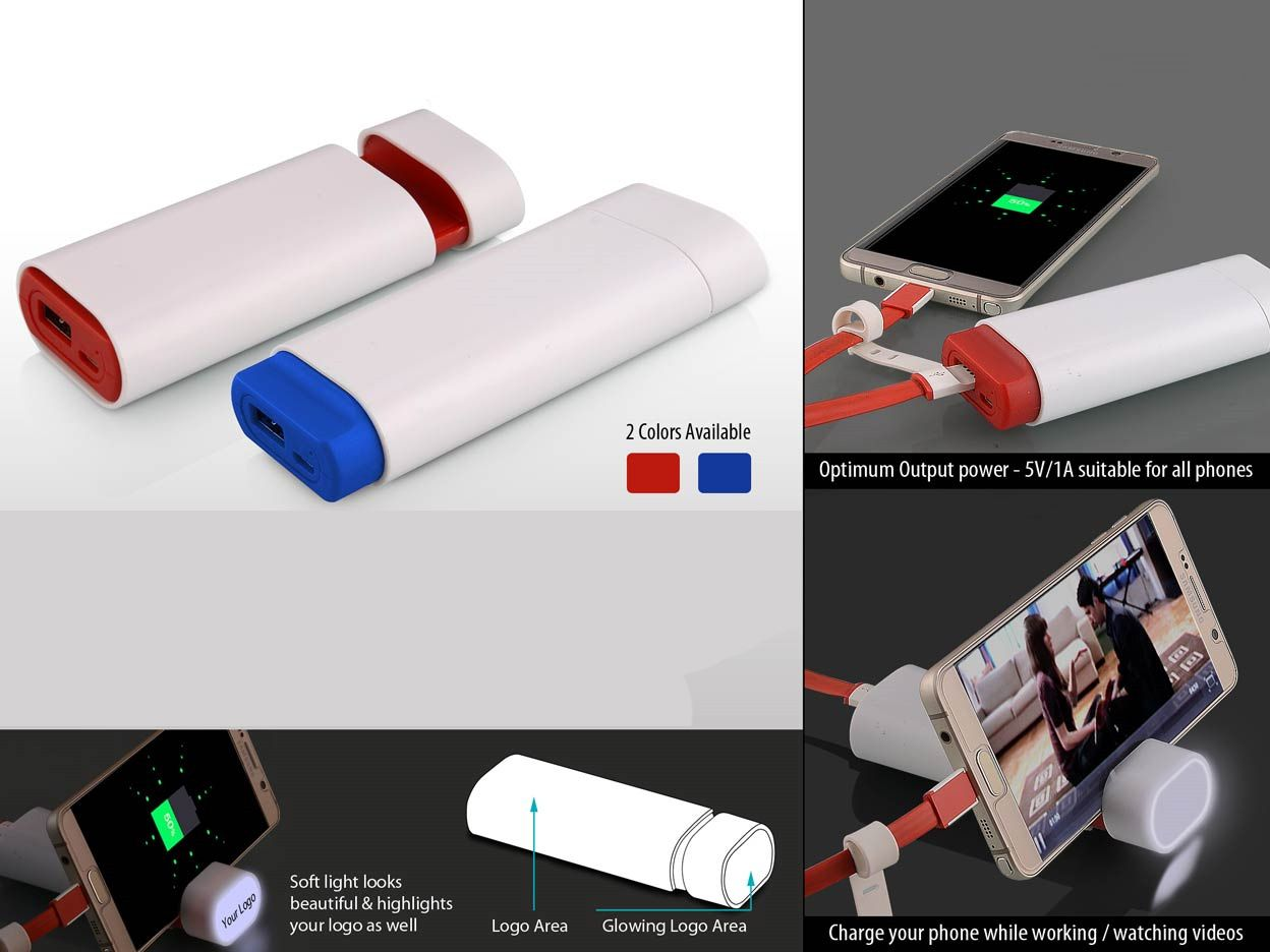 Power Plus Powerglow Sliding Power Bank With Mobile Stand (6,000 Mah) C42