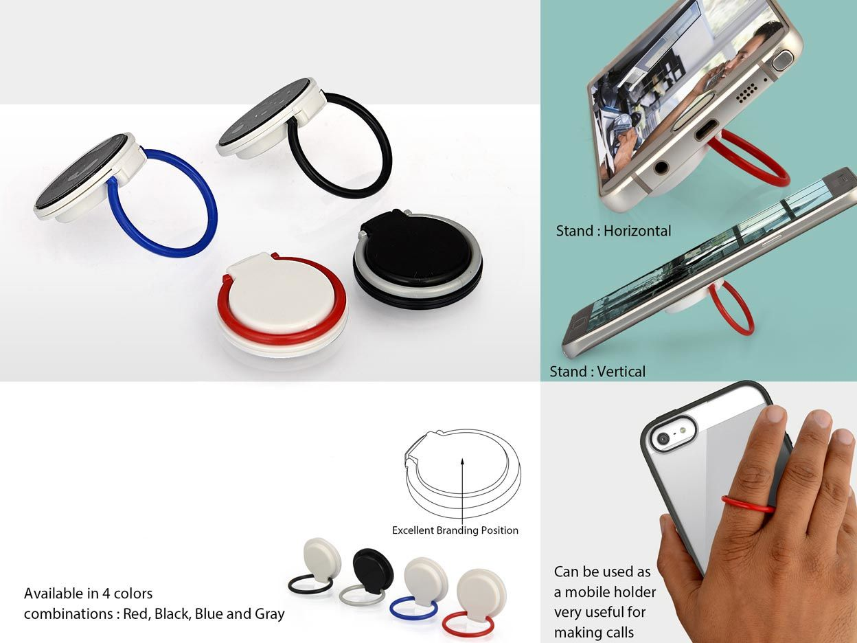 Power Plus Rotating Mobile Finger Ring (With Mobile Stand) E191
