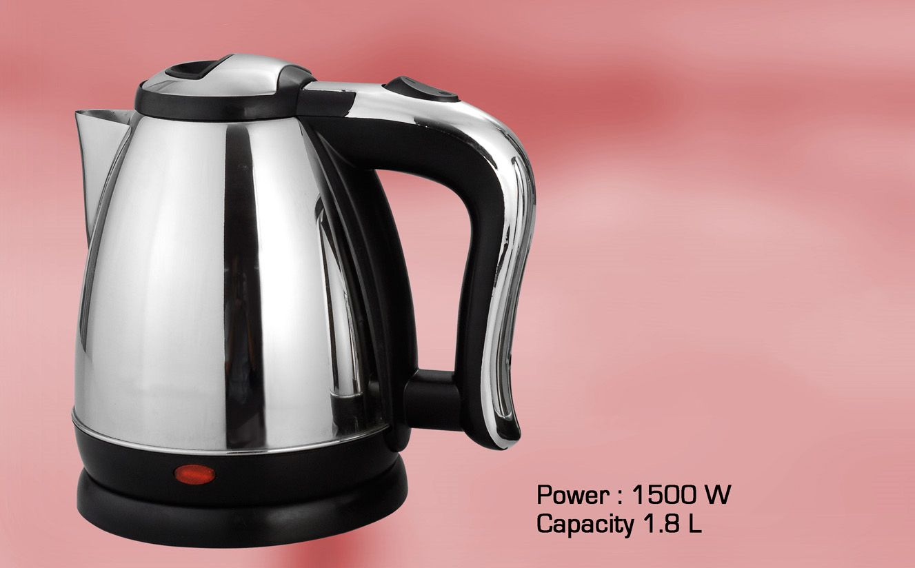 Power Plus Stainless Steel Electric Kettle (1.8L) H81 Silver
