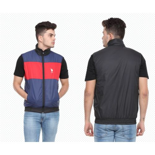 U.S. Polo Assn. Reversible Sleeveless Jacket - Red, Navy And Black(S)