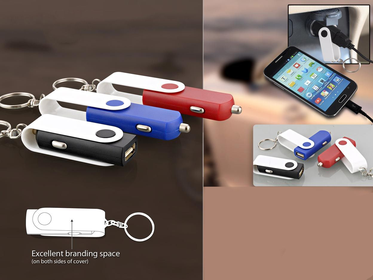 Power Plus Usb Style Swivel Car Charger C10