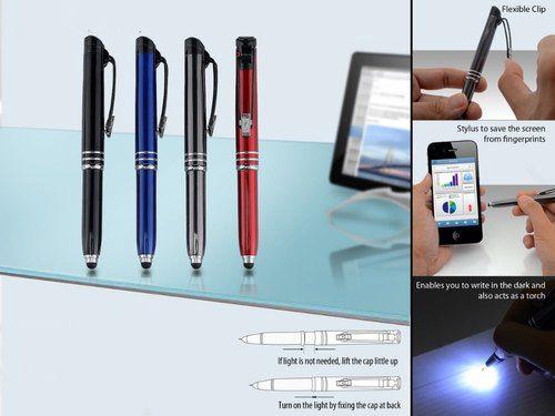 Write In The Dark Executive 'Auto' Pen With Stylus (Brass Body) L97