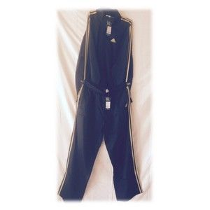 Adidas Track Suit Black With Yellow Stripes 36945