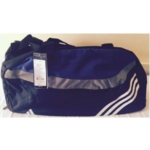 Adidas Black And Blue Polyester Duffle Bag S27712