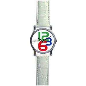 Benetton 3 Digit Unisex Watch White
