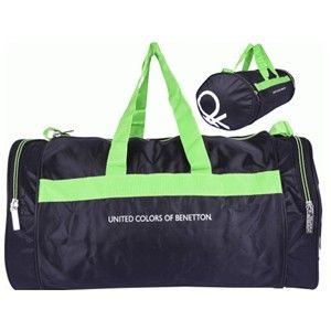 Benetton Green Gym Bag With One Main Compartment